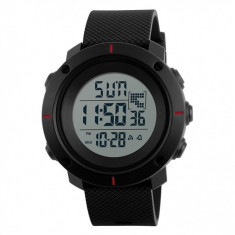 Ceas Barbatesc SKMEI CS1078, curea silicon, digital watch, functie cronometru, alarma foto