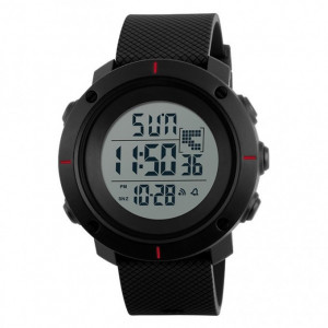 Ceas Barbatesc SKMEI CS1078, curea silicon, digital watch, functie cronometru, alarma
