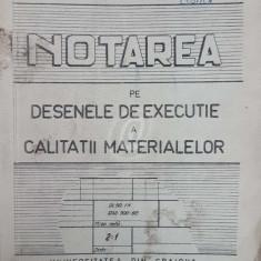 Notarea pe desenele de executie a calitatii materialelor