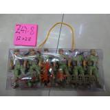 Z47-08 SET 6 SOLDATI 12X28 CM CUTIE PLASTIC 509