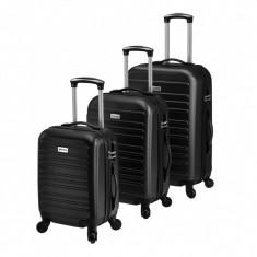 [pro.tec]® Set 3 Valize Tip Troler 2, 43 x 26,5 x 69 cm, ABS plastic, ...