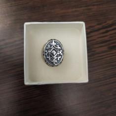 Inel argint vintage model heraldic