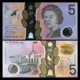 Australia 2016 - 5 dollars UNC, polimer