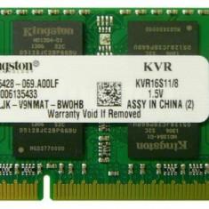 Memorii Laptop Kingston 8GB DDR3 PC3-10600S 1333Mhz 1.5V APPLE