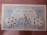 100 lei 1877 HYPOTHECAR varianta de circulatie 4 semnaturi-FOARTE MARE RARITATE