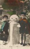 România, felicitare 3 Crăciun, carte poştală, circulată intern, 1933