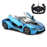 Masina cu telecomanda BMW i8 Rastar, 1:14, Albastru