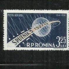 ROMANIA 1958 - SPUTNIK III - MNH - LP 460