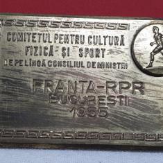 Medalia concurs sportiv international 1955 Franta vs Republica Populara Romana