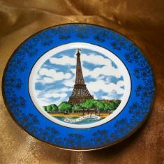 Farfurie Limoges Turnul Eiffel, colectie, cadou, vintage