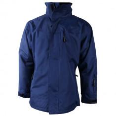 Jacheta impermeabila de toamna cu fermoar si gluga OMSK, pentru barbati, Albastru