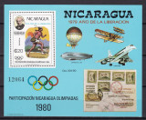 Nicaragua  1980  sport  olimpiada UPU   MI  bl.111   MNH   w59