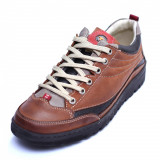 Pantofi barbati Casual City 5042 Brown piele naturala