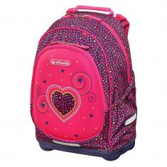 Rucsac scoala Herlitz Bliss Pink Hearts + CADOU
