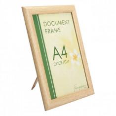 Rama foto, model pentru documente, 21×29.7 cm, crem