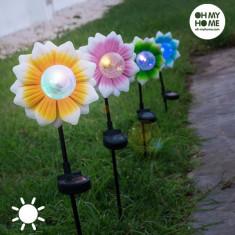 Floare Solara cu LED Multicolor Oh My Home