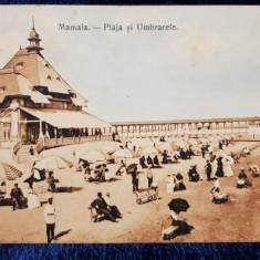 Mamaia. Plaja si Umbrarele - CP Ilustrata