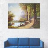 Tablou Canvas, Pictura Codru Verde - 20 x 25 cm