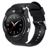 Cumpara ieftin Ceas Smartwatch V8 Negru HandsFree Bluetooth 3.0 Micro SIM Android Camera 1.3MP