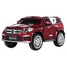 Masinuta electrica Premier Mercedes GL63, 12V, roti cauciuc EVA, scaun piele ecologica, rosu