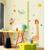 Sticker decorativ , masuratoare cu animalute, 160 cm, 104STK
