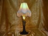 Art Deco Hollywood Regency veioza sticla suflata colectie, vintage (2)