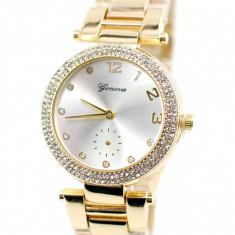 Ceas dama elegant GENEVA, Crystal Shine Design - GV215GOLD