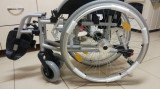Carucior invalizi cu antrenare manuala si frane pe maner - 120 kg