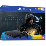 Consola SONY PlayStation 4 Slim (PS4 Slim) 1TB, Jet Black + joc Death Stranding