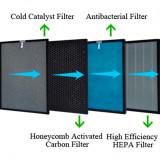 Oberon 320-Set 2 filtre combinate, Catalizator/ Cărbune activ, Antibacterial/ HEPA