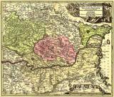 Harta Transilvania, Moldova si Valahia 1730  