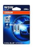 Set 2 becuri Osram W5W Cool Blue Intense 12V 5W 2825HCBI-02B