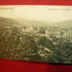 Ilustrata Ramnicu Valcea - Str. Episcopiei si Seminarul ,circulat 1929