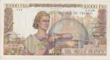 FRANTA 10000 FRANCS FRANCI GENIE FRANCAIS 5-4-1956 F