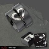 Inel otel inoxidabil pentru indragostiti Dark Romance - HER