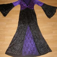 costum carnaval serbare rochie medievala contesa regina pentru adulti marime M