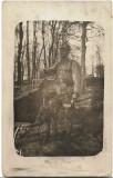 B2222 Fruntas austro-ungar cu pusca baioneta si ranita poza veche primul razboi