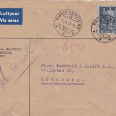 Elvetia 1943 -Airmail / Cenzura Militara Germana - Wehrmacht