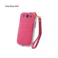 Husa Capac Plastic Samsung G900 Galaxy S5 Alb/Roz
