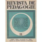 Revista de pedagogie, nr. 11/1981
