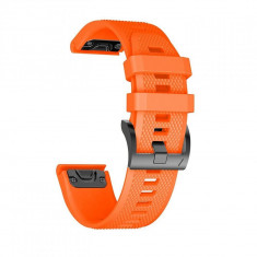 Curea silicon Tech-Protect Smooth Garmin Fenix 3/5X/3HR/5X Plus/6X/6X Pro Orange