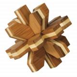 Joc logic IQ din lemn de bambus Cristal 3D, Fridolin