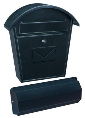 Cutie poștală Aosta Set cu suport ziare negru foto