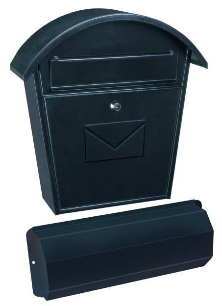 Cutie poștală Aosta Set cu suport ziare negru