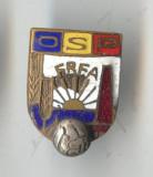 Insigna veche FOTBAL - OSP - FRFA - Federatia Romana de Fotbal Amatori 1930 RARA