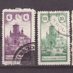 Polonia 1918 - Zarkach(Zarki), set posta locala, fara garantie