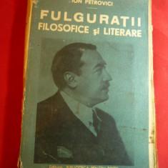 Ion Petrovici- Fulguratii Filozofice si Literare -BPT 1543-1546 interbelica Ed.S