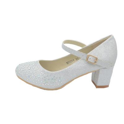 Pantofi cu toc fetite MRS M1311-AR, Argintiu foto