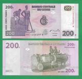 = CONGO - 200 FRANCS - 2007 - UNC   =