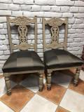 Pereche scaune stil baroc cu tapiterie Louis Vuitton, 1800 - 1899